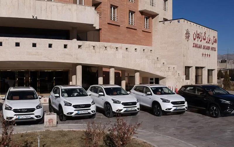 اقامت کاروان چری در هتل بزرگ زنجان